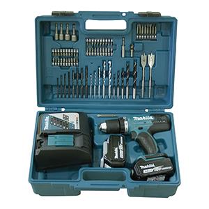 DDF482RFX1 - Taladro atornillador18V 3,0Ah + kit accesorios 74 piezas