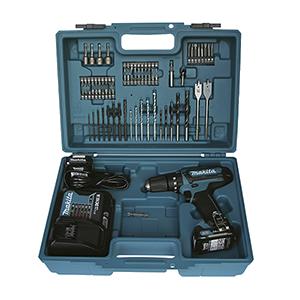 HP331DSAX1 - Taladro percutor 10.8V 2.0Ah + set accesorios 74 piezas
