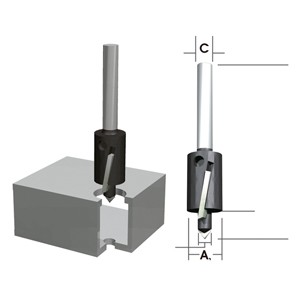 Fresa de doble diámetro para aluminio