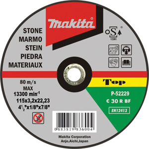 Disco de corte piedra 115mm x 3.2mm