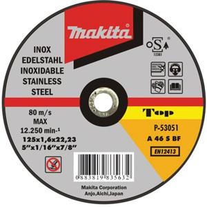 Disco de corte extrafino inoxidable 115mm x 1.6mm