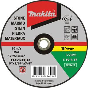 Disco de corte piedra 125mm x 1.0mm