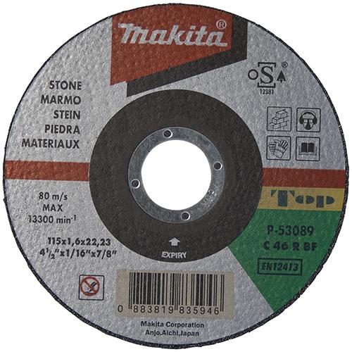 Disco de corte piedra 115mm x 1.6mm