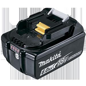 Batería BL1860B 18V 6.0Ah con indicador de carga