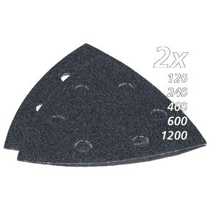 Set de lijas de velcro triangular