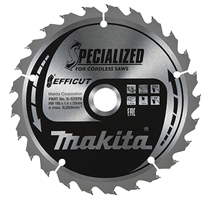 Disco TCT 165/20/25D Madera Efficut