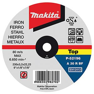 Disco de corte metal 230mm x3.2mm