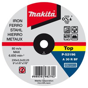 Disco de corte metal 230mm x 2.0mm