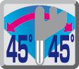 Cabezal basculante45° a ambos lados
