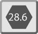 Inserción hexagonal de  28.6mm